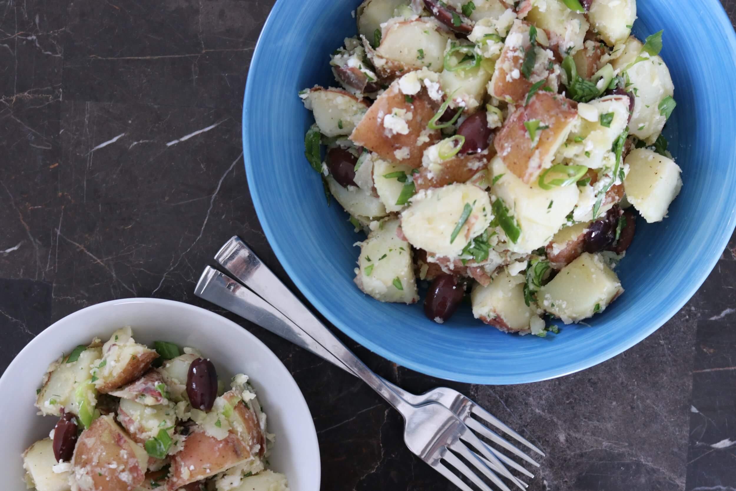 Greek Potato Salad by Chartered Wellness