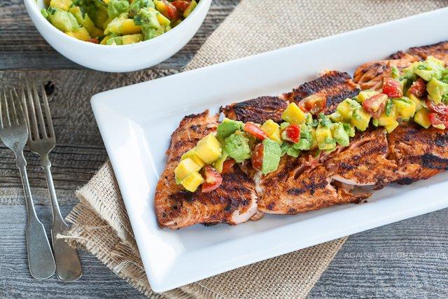 Blackened-Salmon-With-Mango-Avocado-Salsa