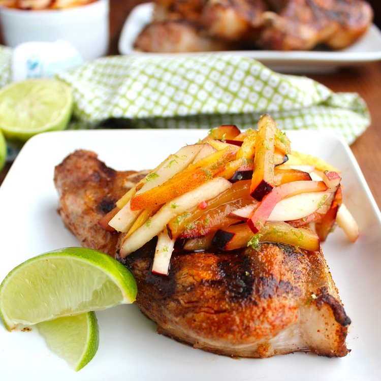 Grilled-Pork-Chops-With-Stone-Fruit-Slaw